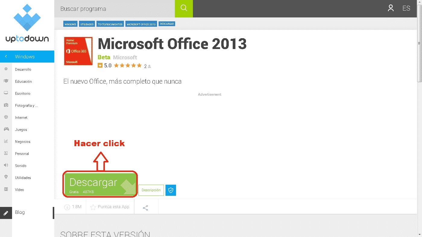 como descargar word 2013 gratis
